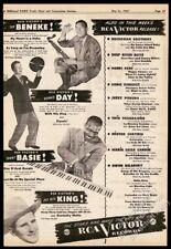 1947 Tex Beneke photo Count Basie Dennis Day Pee Wee King RCA Victor trade ad