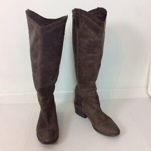 Steve Madden Manor Brown Leather Western Rustic Cowboy Women's Boots Size 10M