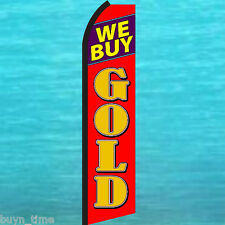 We Buy Gold Flutter Feather Flag Swooper Tall Advertising Sign Banner 25-1451