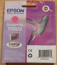 GENUINE EPSON T0803 TO803 Magenta cartridge vac' sealed ORIGINAL HUMMINGBIRD ink