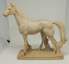 """Unbranded Horse Statue Paper Weight Bookend Cast Resin? 10"""" x 10.5 Figurine"""