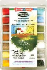 Stampendous EMBOSSING POWDER SET 14 JARS SCENIC SELECTION Natural Landscape