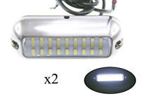 Pactrade Marine 2PCS Boat Pontoon  S.S.316 White 27 LED Underwater Light 3 3/4""
