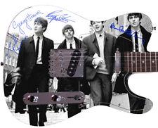 THE BEATLES Autographed Photo Guitar