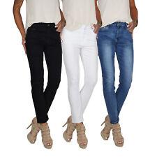 Damen High Waist Stretch Slim Röhren Jeans Hose Übergröße Over Plus Size E24