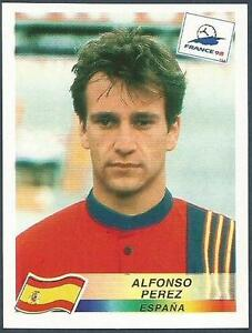 PANINI WORLD CUP FRANCE 1998- #244-ESPANA-SPAIN-ALFONSO PEREZ