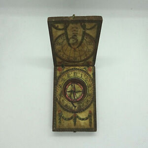 Antique J. G. Kleininger Sundial and Compass from 1700s Germany