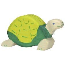 Holztiger 80176 Schildkröte 10 cm Holzfiguren Serie Waldtiere