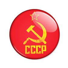 Badge CCCP FAUCILLE et MARTEAU rouge jaune soviet communisme communiste Ø25mm