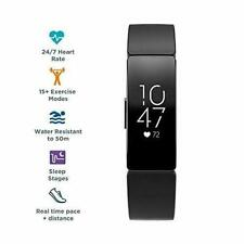 Fitbit 79-FB413BKBK Inspire HR Wristband Activity Tracker - Black