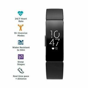 Fitbit 79-FB413BKBK Inspire HR Wristband Activity Tracker - Black