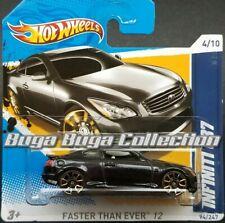 Hot Wheels '12 Faster Than Ever Infiniti G37 Short Card Black