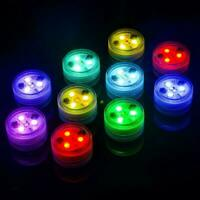 10X Waterproof Remote Control Colored LED Light Boundary Style EFX Accent Hot