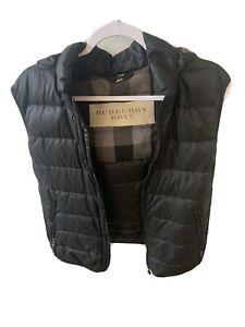 Burberry Black Down Puffer Vest Jacket Mens Size / Med Black