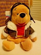"Pilot Pooh (Aviator Flight Gear) Disney Store 8"" Mini Bean Bag  Beanie Plush NEW"