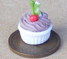 1:12 scala cioccolato dessert DOLLS HOUSE Bakery Accessorio CHERRY DOLCI SOUFFLE F