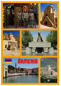 ARMENIA - SOUVENIR NOVELTY FRIDGE MAGNET - SIGHTS / GIFTS / FLAGS / BRAND NEW