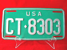 "US Armed Forces GERMANY License Plate ""CT>8303"" from 1970's Nice Condition"