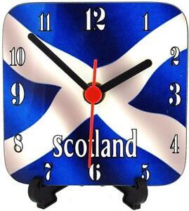 The Olivia Collection Scotland Scottish Square Quartz Freestanding Funky Clock