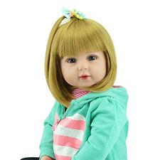 19'' Bambole Reborn Realistico Bambino Baby Dolls Vinile Silicone Giocattoli IT