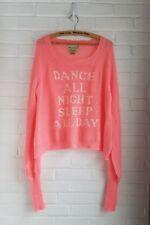 Wildfox Sweater White Label Dance All Night Sleep All Day Pfeiffer Medium