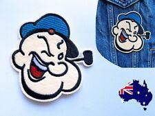 Popeye Sailor Man- Iron On Patch Badge Applique Cartoon Character Tattoo Comic