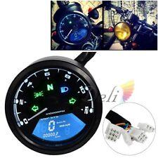 Tachymètre de Moto 18V LCD Digital Compteur de Vitesse Universel Odomètre