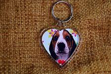 Beagle Gift Keyring Dog Key Ring heart shaped gift Birthday Gift
