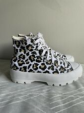 Converse Leopard Print Lugged Hi Top Women's Size 8