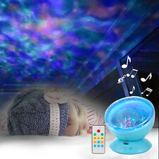 Ocean Wave Music Relaxing Projector LED Night Light Gift Lamp Remote Control