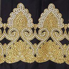Stunning Gold Bridal Lace Trim Ribbon Sewing Craft Wedding Sari Border by 40 cm