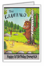 The Gruffalo Design Personalised Birthday Card - Any Name & Age Child or Adult