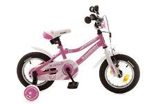 Kinderfahrrad 12,5'' Kawasaki Kuma Mädchen Pink-Weiss Rücktritt 540-KW-89