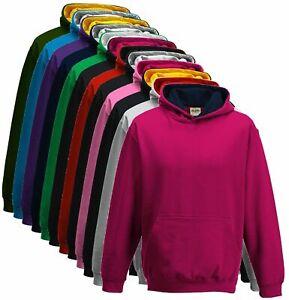 Kids Boys Girls Childrens UNISEX Hoodies Sweat Jumper Hooded Tops Fleece