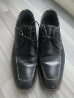 Mens Samuel Windsor Black Leather Handmade Lace Up Formal Brogues Shoes Size 12