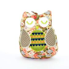 Cute Pink Flowery Owl Weighted Door Stopper Fabric Doorstop Home Decor Gift