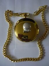 Misty Crystal Ball Fortune Teller tg1 Pewter on a Gold Pocket Watch Quartz fob