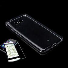 Funda de silicona Bolsa Transparente + 0,3 H9 Cristal protector para HTC U11