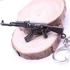 AK47 Assault Rifle Cross Fire Submachine Gun Keychain Miniature Model Weapon