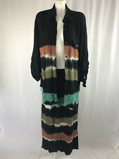 Carol Little Vitage 2 Piece Outfit Top Size 12 Skirt Size 10 Tie Dye
