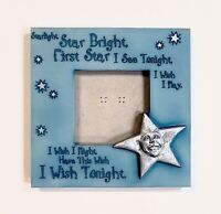 """Vintage Life Echoes Starlight Star Bright 3x3"""" Photo Frame Holds 3.5x3.5 Picture"""