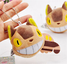 Studio Ghibli My Neighbor Totoro Cat Bus Soft Plush Samll Pendant Keychain