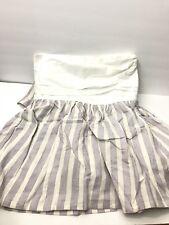 Restoration Hardware Baby Child Bed Skirt Crib Toddler Bed Antique Stripe NEW