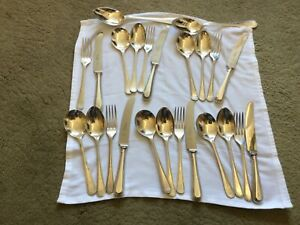 Arthur Price Soverign Silver Plate Bead design 24 piece cutlery