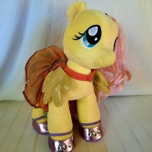 """Build A Bear Fluttershy My Little Pony Yellow 16.5"""" Plush with Dress & Shoes"""