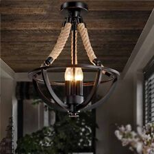 Round Bowl Chandelier Retro Industrial Candle Hanging Rustic Pendant Light Lamp