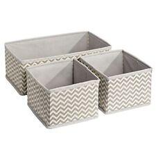 InterDesign Aldo Fabric Drawer and Closet Storage Organizer 3 Sets / 9 Total PCS