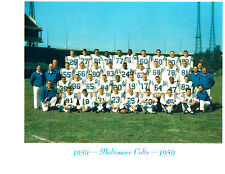 1959 BALTIMORE COLTS TEAM PHOTO  FOOTBALL DONOVAN LIPSCOMB UNITAS NFL HOF