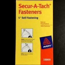 """Avery® Secur-A-Tach Tag Fasteners 1,000 Weatherproof 5"""" Long New Secure Attach"""