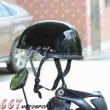 Novelty Low Profile Motorcycle Style Skull Cap Half Helmet Black For Harley HD